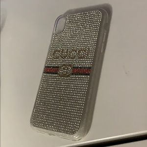 Fashion designer sparkly iPhone XR phone case